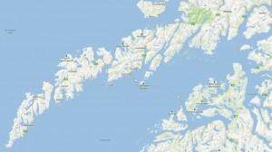 Mapa-Lofoten